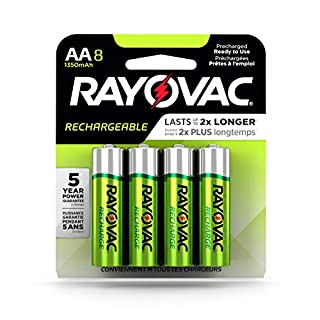 Rayovac Rechargeable AA Batteries, Rechargeable Double A Batteries (8 Count) (B003D7LHHW) | Amazon Products