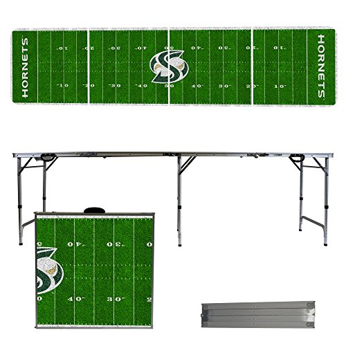 NCAA Sacramento State Hornets Football Field Version Folding Tailgate Table, 8' by Victory Tailgate