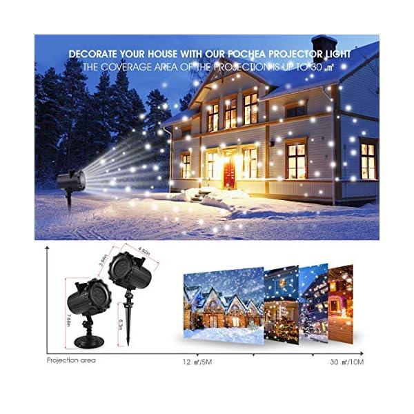 Proiettore Luci Natale, Proiettore Natale Esterno Interno Proiettore Fiocchi di Neve Impermeabili lampada proiettori LED 16 Diapositive con Telecomando RF per luci natalizie, Compleanno, Capodanno 2 spesavip