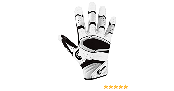 Cutters Gloves Rev Pro 2.0 Receiver Football Gloves White//Maroon Large