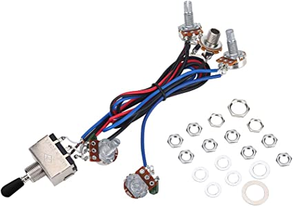 Amazon.com: Bass Wiring Harness Kit, Including 11 Pcs Nuts and 6 Pcs  Washers for Electronic Guitar Replacement Kit: Musical Instruments | Bass Guitar Wiring Harness |  | Amazon.com