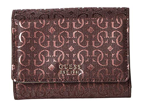 (GUESS Women's Tamra SLG Small Trifold Burgundy One Size)