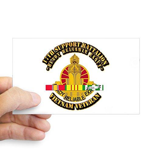 CafePress - Army - 17Th Support Battalion W SVC Ribbon Sticker - Rectangle Bumper Sticker Car Decal (Svc Ribbons)