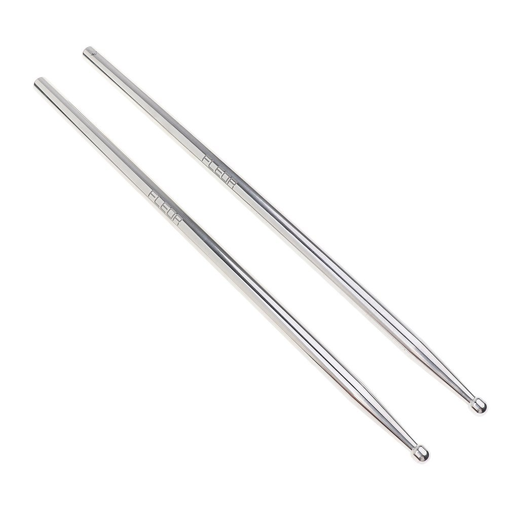 Homyl Practical 2Pcs Metal 5A Bass Drum Stick Replacement Mallets Percussion Instrument Parts