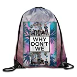 Gtaiquxin Why Don't We Unisex Drawstring Gym Sack Sport Bag Review