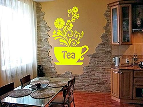 Room Design Art Tea Cup Breakfast Dinner Cookie Cake Coffee Kitchen Wall Decals Decor Vinyl Sticker SK10085