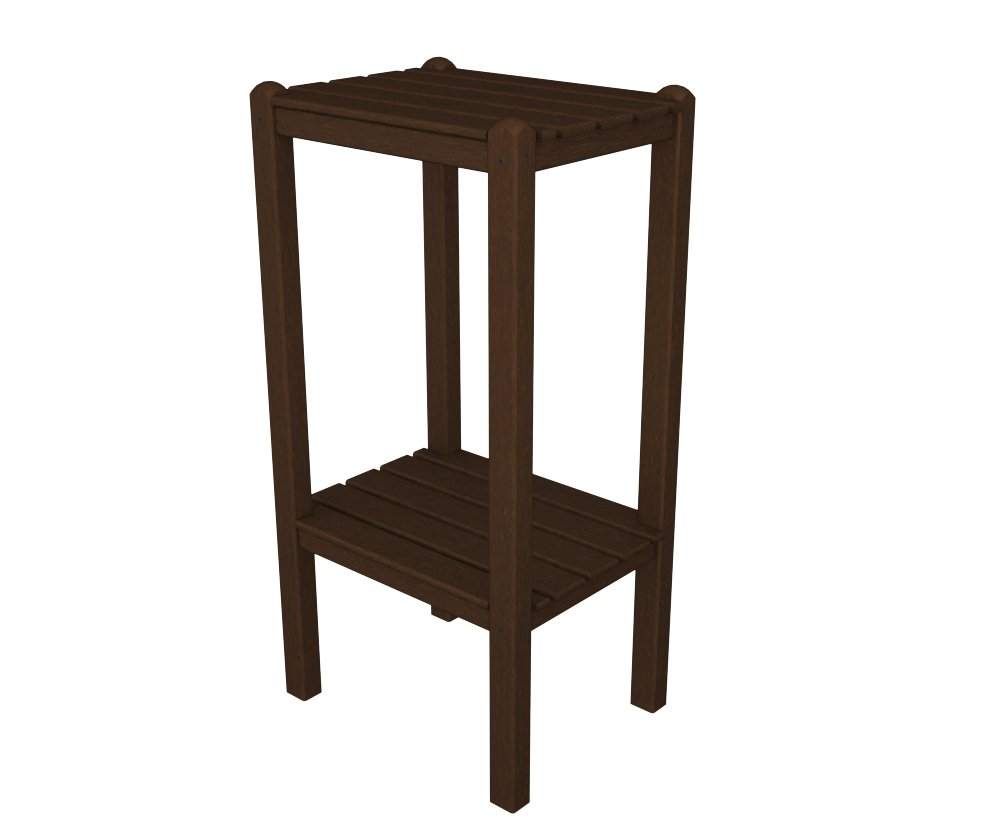 Amazon.com : POLYWOOD BSTWH Two Shelf Bar Side Table, White : Patio Side  Tables : Patio, Lawn & Garden - Amazon.com : POLYWOOD BSTWH Two Shelf Bar Side Table, White