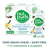 nutpods French Vanilla, Unsweetened Dairy-Free Liquid Coffee Creamer Made From Almonds and Coconuts (4-pack) Larger Image