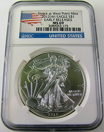 2012 W American Silver Eagle Early Release $1 MS69 NGC