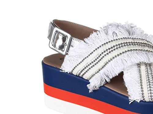 Sandalo Bianco MOMENTI Scarpe Primavera 6642 Donna Estate Argento 2018 Plomo Specchio YnU5ZUqgr