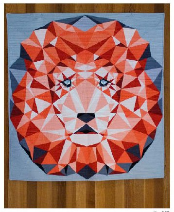 Quilten Paper Piecing.Amazon Com The Jungle Abstractions Quilt The Lion