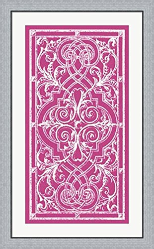 Graphic Ironwork I by Vision studio Framed Art Print Wall Picture, Flat Silver Frame, 26 x 42 (42 Iron Works Wall)