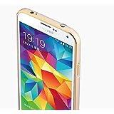 Kapa Dual Tone Circular Arc Shaped Bumper Case Cover for Samsung Galaxy S4 - Gold