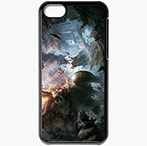 Personalized iPhone 5C Cell phone Case/Cover Skin Art Battle Monster Giant Minotaur Horn Black by supermalls