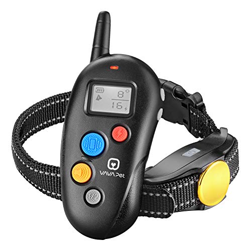 VAVA Pet Dog Training Collar – Rechargeable with 3 Training Modes, Beep, Vibration & Shock, 100% Waterproof Training Collar, up to 330 Yards Remote Range, Dog Training Set by VAVA Pet (Image #1)