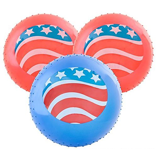 18'' PATRIOTIC KNOBBY BALL, Case of 2 by DollarItemDirect