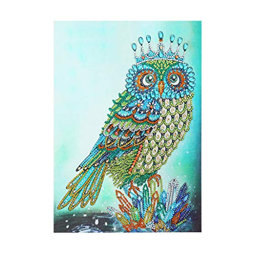 FILOL 5D DIY Animal Pattern Diamond Painting Kit, Rhinestone Diamond Embroidery Rhinestone Cross Stitch Arts Craft Supply for Home Wall Decor Living Room Bedroom (A)