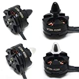 Dreamyth 2pc MT2204 2300KV CW/CCW Brushless Motor for Mini Quadcopter Thread Black (black)
