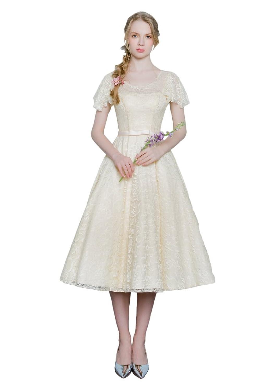 Women's Cap Sleeve Lace Ball Prom Dresses Short