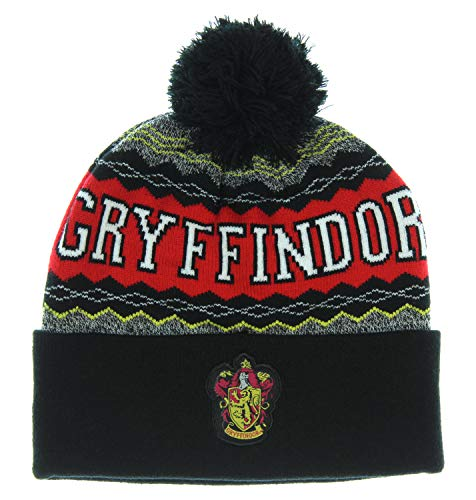 Harry Potter Gryffindor Cuff Pom Beanie (Name Of The Hat In Harry Potter)