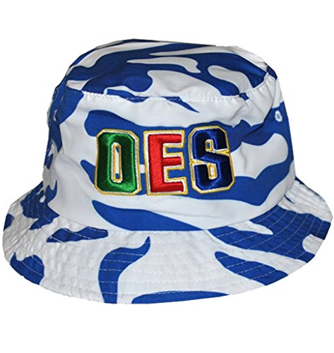 Big Boy Headgear Order Eastern Star Bucket Hat Camouflage Blue/White