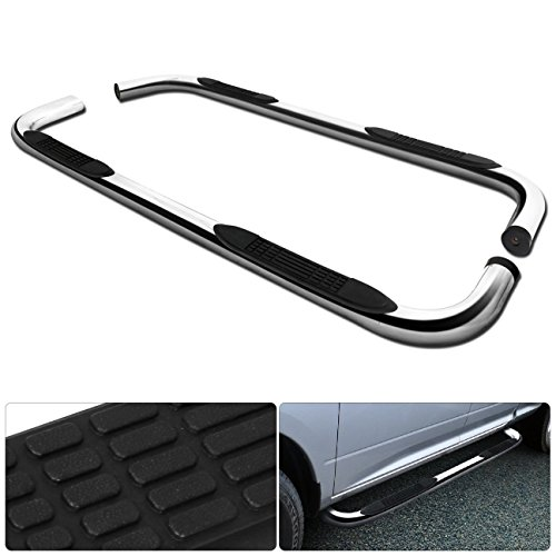 Fits Toyota Tundra Double Cab 3 Inch Running Board Tube Round Side Step Nerf Side Step Bar Chrome -