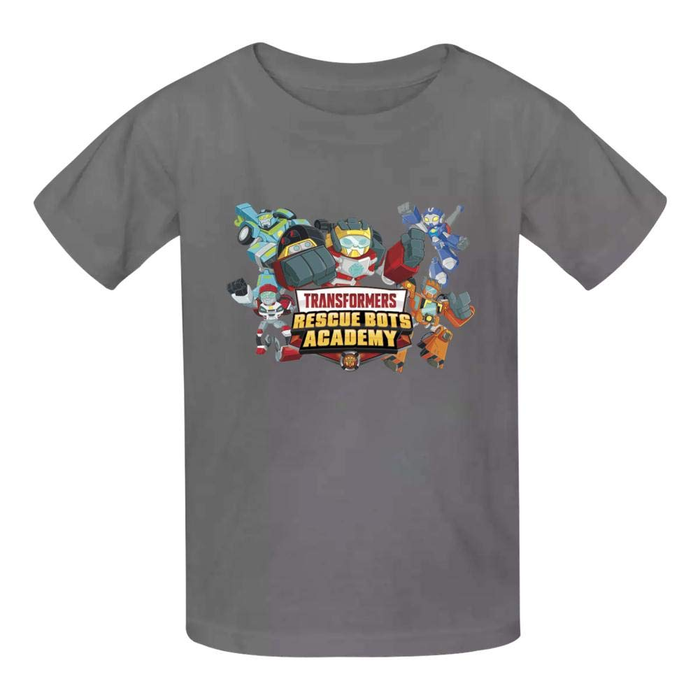 Kid//Youth Tra-NSF-Orme-rs Res-cUE Bo-TS T-Shirts 3D Short Sleeve Tees for Girls Boys