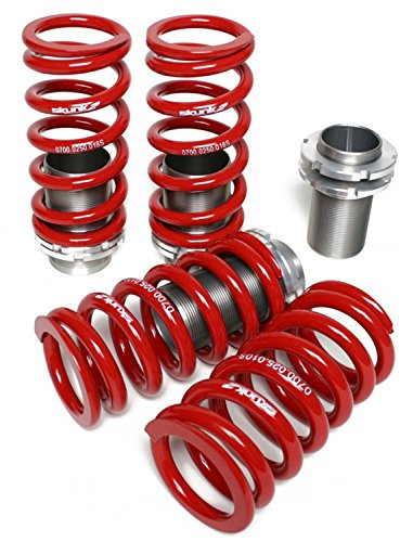 Skunk2 Racing 517-05-0730 Coilover Sleeve Kit Front 10K/18K Rear Spring Rates 0-3.5 in. Lowering Adjustment Incl. Forged Spring Perches/Aluminum Sleeves Set of 4 Coilover Sleeve Kit