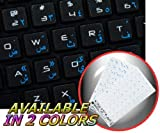 ARABIC MAC KEYBOARD STICKERS WITH BLUE LETTERING ON