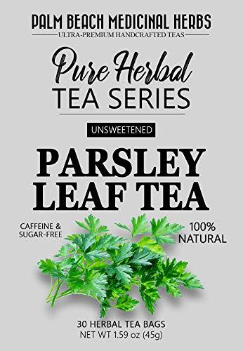Parsley Leaf Tea - Pure Herbal Tea Series by Palm Beach Medicinal Herbs (30 Tea Bags) 100% Natural