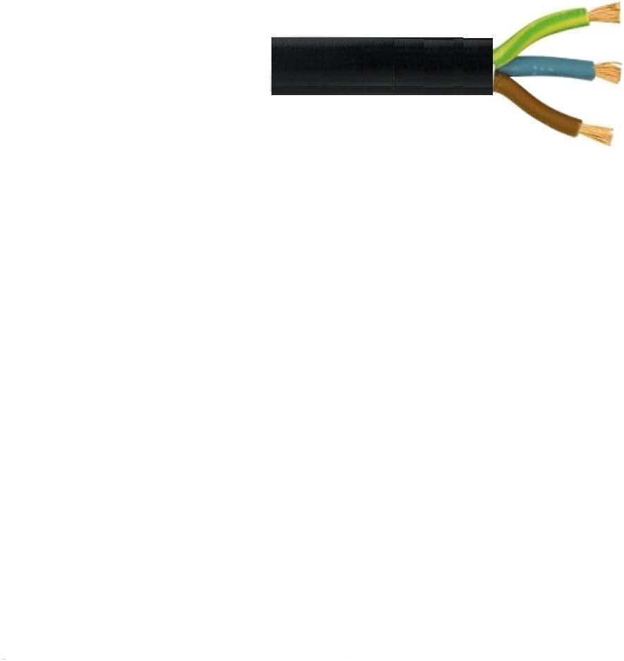 R/éf/érences 3182Y 1,0/mm et 1,5/mm Rouleau complet et longueurs personnalis/ées disponibles Rouleau de c/âble flexible noir C/âble/: 0,75/mm 3183Y 2 ou 3/fils