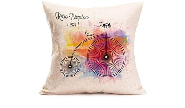 vintage cap Generic Decorative Linen Cloth Pillow Cover ...