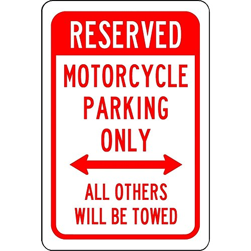 Personalized Metal Signs For Outdoors Reserved Motorcycle Parking Only   Aluminum Sign 8 X 12 Inch