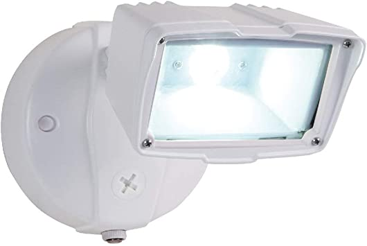 cooper lighting fss153tiw led switch control integrated photocontrol security and flood light white