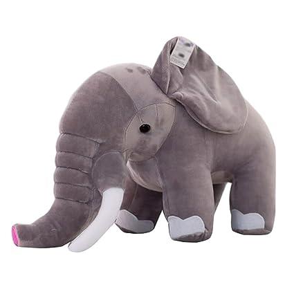 Amazon.com: Elefante muñeca almohada cojines Plush Toys ...