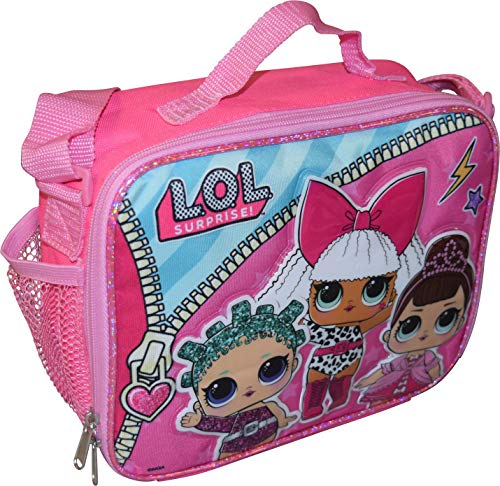 L.O.L Surprise! Girl's Deluxe Embossed Insulated Lunch Box with Shoulder Strap