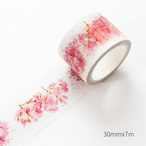 Drawingo Kawaii Pink Cherry Blossoms Japanese Decorative Washi Tape Diy 15Pcs Scrapbooking Masking Tape School Office Supply Escolar Papelaria