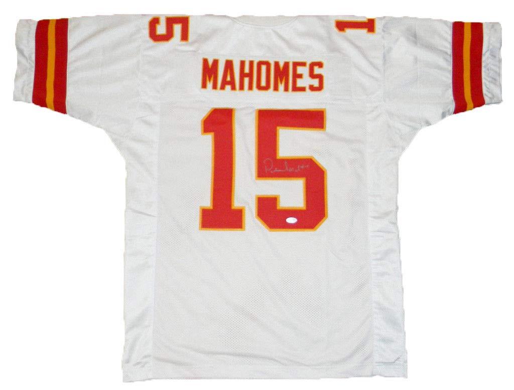 Kansas City Chiefs Patrick Mahomes Autographed #15 White Jersey Beckett COA