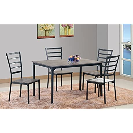 Best Quality Furniture D208 5PC Dining Set