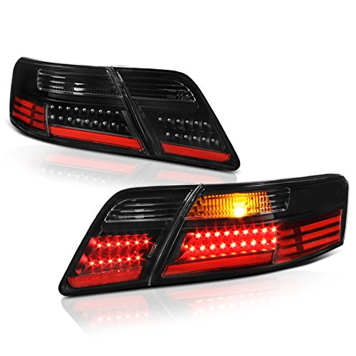 - VIPMOTOZ Black Housing LED Tail Light Lamp Assembly For 2007-2009 Toyota Camry, Driver & Passenger Side
