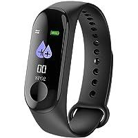 Sebami Pulsera Monitor de Actividad, Fitness Tracker Bluetooth M3 Pulsera Deporte Impermeable Inteligente Control multifunción Perfecto para iOS & Android