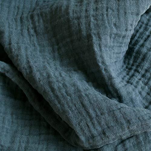Sunny Double Gauze Fabric in Balsam Green - 1 Yard - Premium 100% Cotton Muslin Fabric - 52