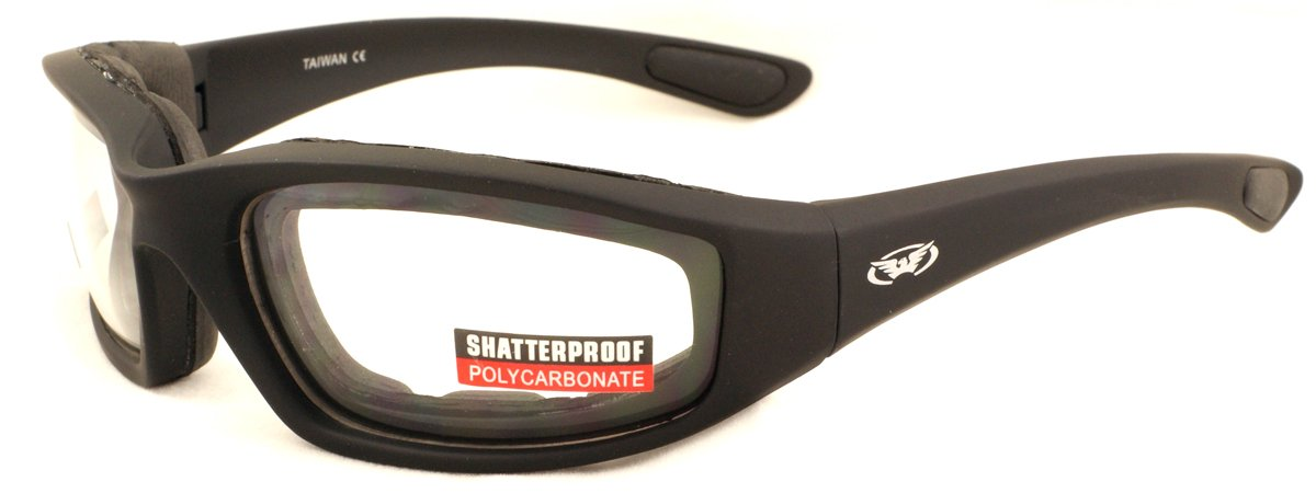 9439964923 Clear motorcycle anti-fog glasses with E.V.A lining complete with free  pouch. product image