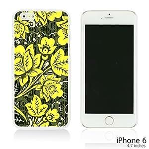 OnlineBestDigital - Flower Paintings Hardback Case for Apple iPhone 6 (4.7 inch)Smartphone - Hohloma Gold Flower