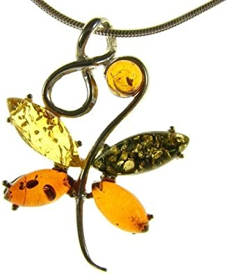 Baltic amber and sterling silver 925 designer multi-coloured butterfly animal pendant necklace 10 12 14 16 18 20 22 24 26 28 30 32 34 36 38 40 1mm ITALIAN SNAKE CHAIN