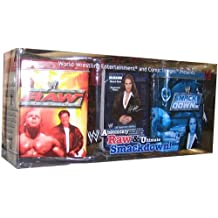 WWE Raw Deal Deluxe Metal Deck Storage Tin Set Absolutely Raw Ultimate Smackd...