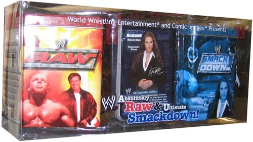 WWE Raw Deal Deluxe Metal Deck Storage Tin Set Absolutely Raw Ultimate - Storage Wwe
