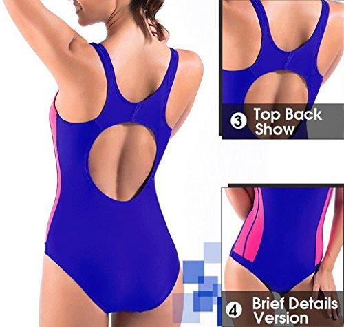Traje de baño de las señoras Siamese Sports Swimsuit Beach Spa Traje de baño Bikini Pink