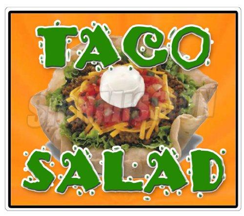 (Taco Salad Concession Decal Mexican Food Trailer menu )