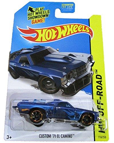 2014 HW Off-Road # 116/250, Regular Treasure Hunt Car, Custom '71 El Camino (Azul)